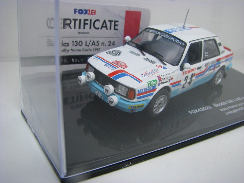 Škoda 130 L/A5 No.24 Haugland Rally MC 1987 1:43 FOX18